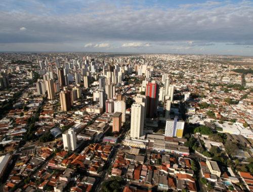 Foto de cima de Uberlândia/MG.